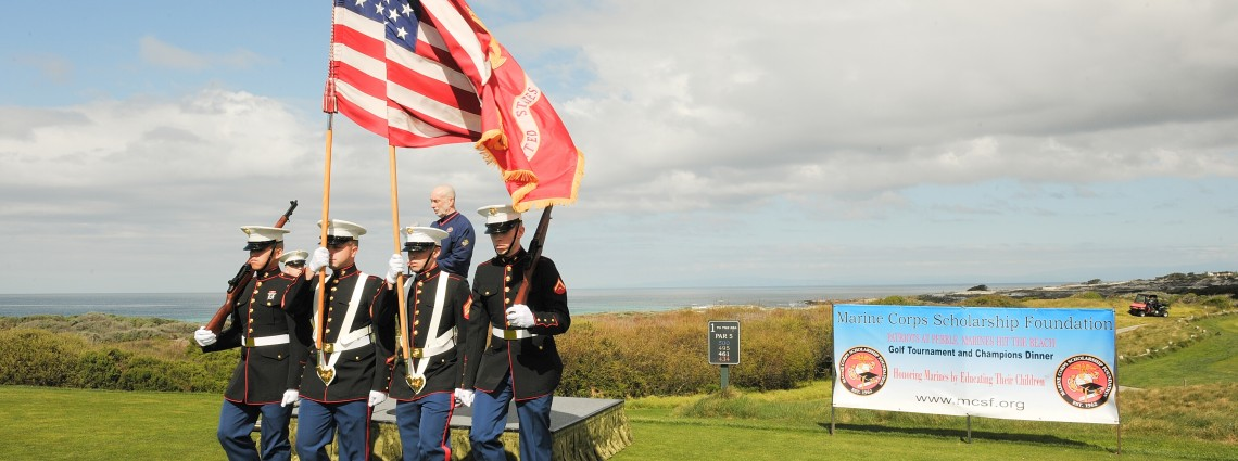 Marine Corps Scholarship Foundation. Patriots at Pebble, Marines Hit the Beach